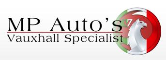 MP Autos,  Vauxhall Specialist Logo