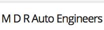 M D R Auto Engineers Logo