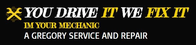 A Gregory Vehicle Service And Repair Logo