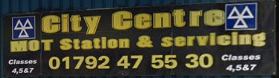 City Centre MOT Swansea Logo
