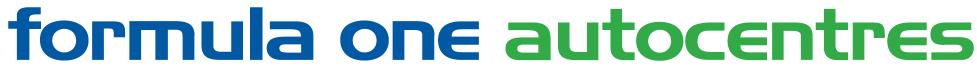 Formula One Autocentre Rugby Logo