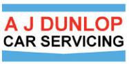 A J Dunlop Car Servicing Logo